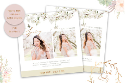 PSD Photo Session Card Template #60