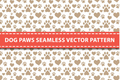 Dog Paws Seamless Vector Pattern
