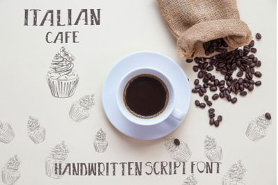 Italian cafe - Handwritten Script Font