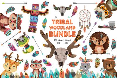 Tribal Woodland animals bundle