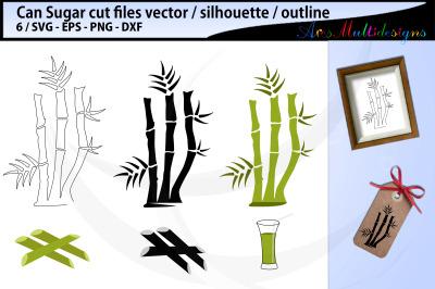 Cane Sugar outline svg / cane sugar silhouette svg
