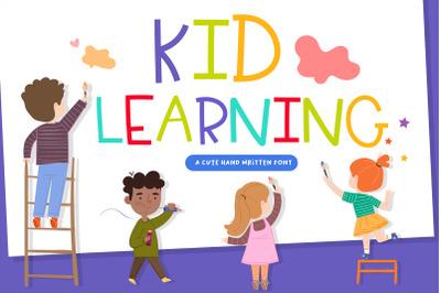 Kid Learning Handwritten- cute kid font Kawaii style!