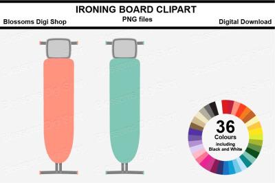 Ironing Board Sticker Clipart, 36 files, multi colours