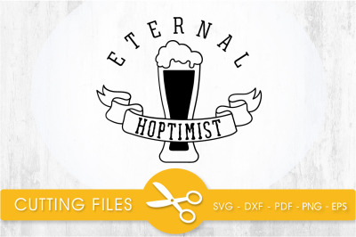 eternal hoptimist svg cutting file, svg, dxf, pdf, eps