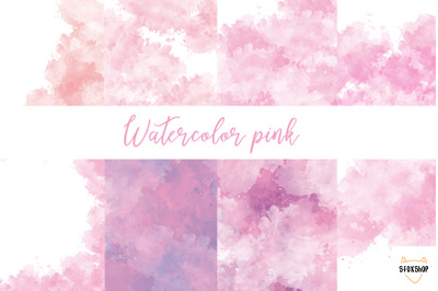 watercolor pink textures