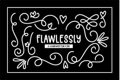Flawlessly Font + Bonus Doodles SVGs