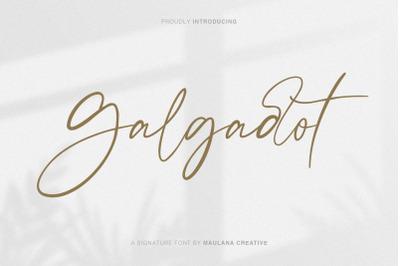 Galgadot Signature Brush Font