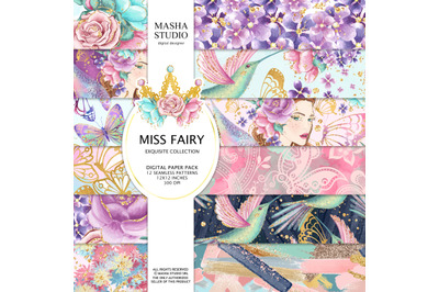 Miss Fairy Digital Papers