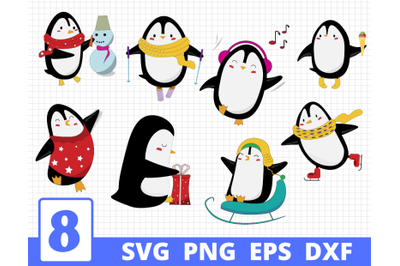 PENGUINS SVG BUNDLE | Penguins clipart | Penguin cut file