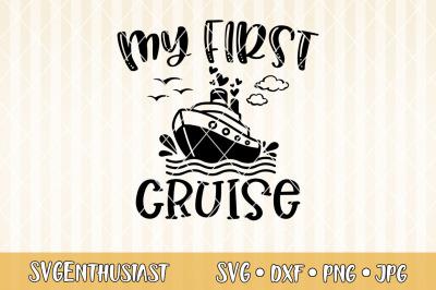 My first cruise SVG cut file