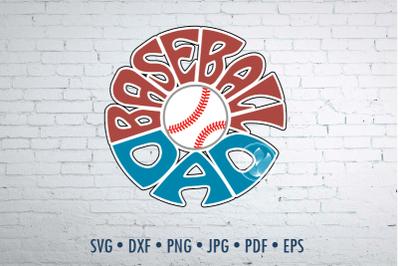 Baseball dad Word Art design, svg, dxf, png, jpg, eps