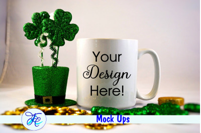 St Patricks Day Mock Up Cup