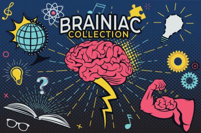 Brainiac Cartoon Graphics Set