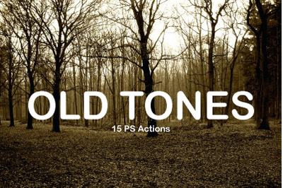 15 Old tones PS Actions