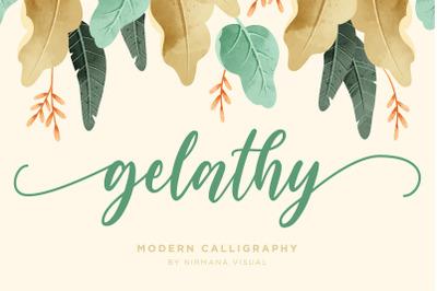 Gelathy + Bonus 2 Font