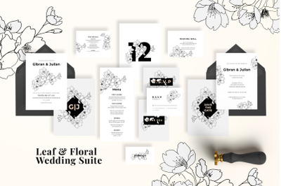 Modern Sketch Wedding Suite