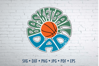 Basketball dad Word Art design, svg, dxf, png, jpg