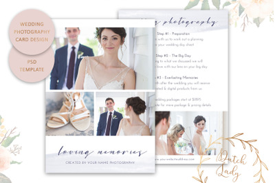 PSD Wedding Photo Card Template #9