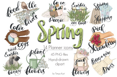 Spring Planner Icons