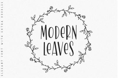 Modern Leaves -Sans & Doodle-