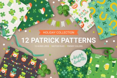 12 Patrick Seamless Patterns