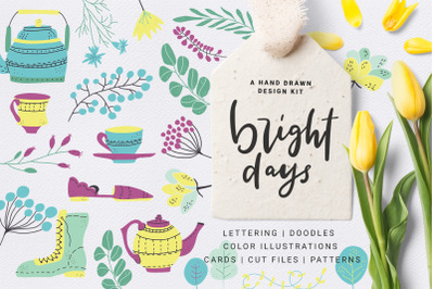 Bright Days - spring design kit