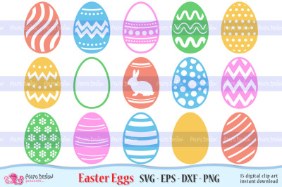 Easter Egg SVG, Eps, Dxf and Png.
