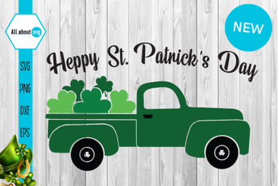 Happy St Patricks Day Svg, St Patricks Truck Svg