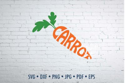 Carrot word art, Carrot jpg, png, eps, svg, dxf