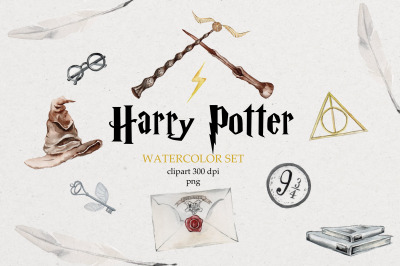 Harry Potter illustrations,icon,hand-painted elements,magic,movie