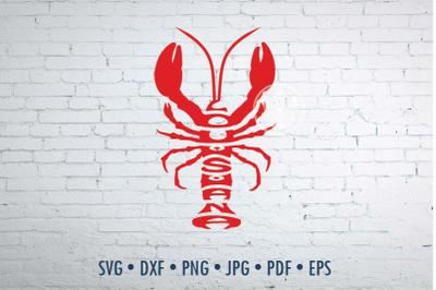 Louisiana word Art in crawfish Svg Dxf Eps Png Jpg