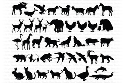 Animal Bundle SVG Cut Files, Animals Clipart .