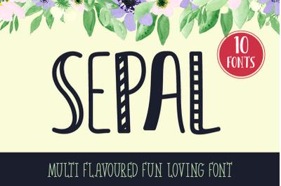 SEPAL Multi Flavored & Fun Loving Font