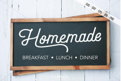 Homemade SVG, Homemade Breakfast Lunch Dinner SVG
