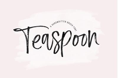 Teaspoon - Handwritten Brush Font