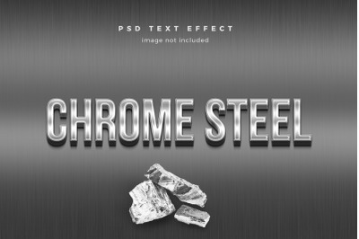 Chrome Steel 3d text effect template