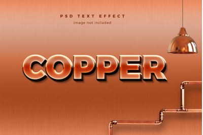 Copper 3d text effect template