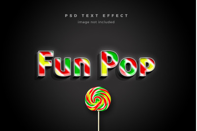 Fun Pop 3d text effect template