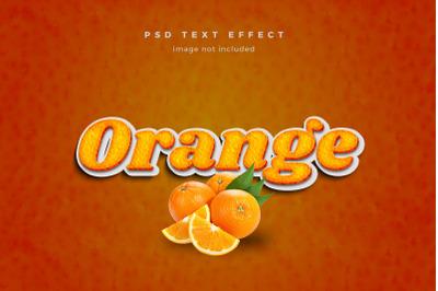 Orange 3d text effect template