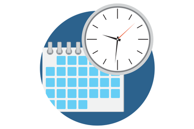 Business time icon vector