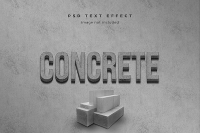 Concrete 3d text effect template