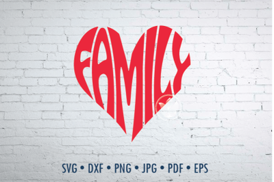 Family Word Art, Family Svg Dxf Eps Png Jpg, Family cut file