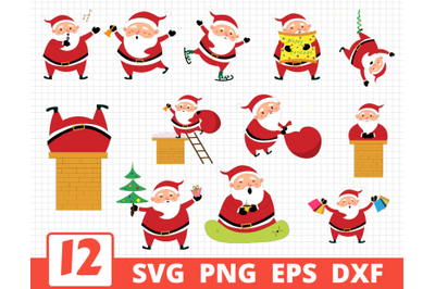 SANTA CLAUS SVG BUNDLE   Christmas cricut   Santa clipart