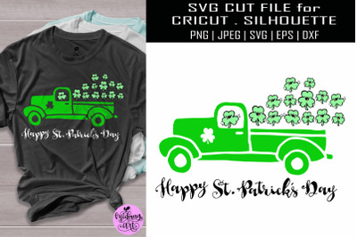 St patricks truck svg