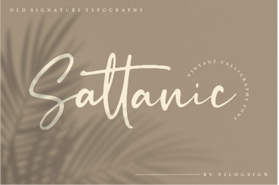 Sattanic Old Signature Typography Font