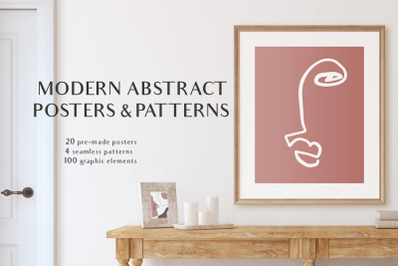 Modern Posters & patterns