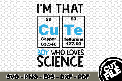 I'm That Cute Boy Who Loves Science SVG Cut File n144