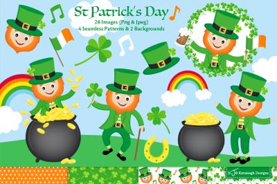 St Patricks Day clipart, St Patricks Day graphics & illustrations -C44