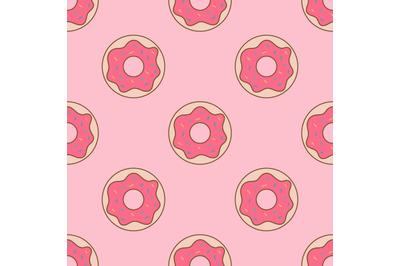 Pink doughnutsseamless repeat pattern