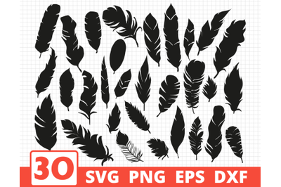 FEATHERS SVG BUNDLE   Boho style vector   Feathers cricut